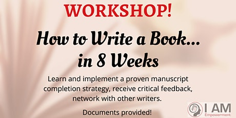 WORKSHOP: How to Write a Book in 8 Weeks tickets