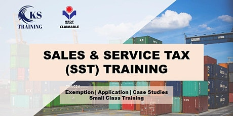 Sales and Service Tax (SST) Training KL - HRDF Claimable tickets