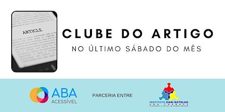 Clube do Artigo  de Abril de 2021 ingressos