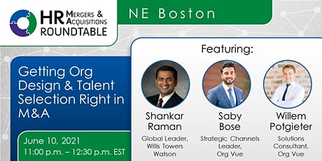 NE Boston HR M&A RT  -  Getting  M&A Org Design & Talent Selection Right tickets