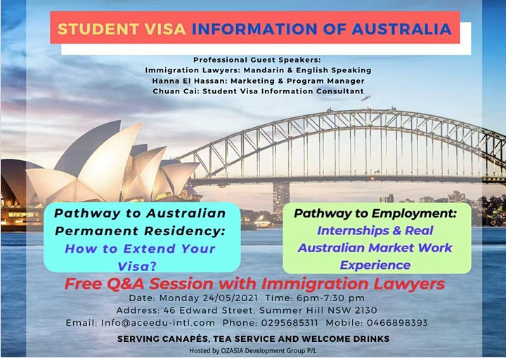 OZ Student Visa Information Session image