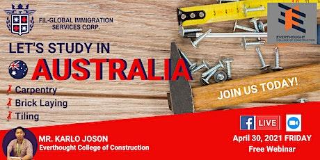 FREE  WEBINAR: STUDY, WORK & LIVE IN AUSTRALIA tickets