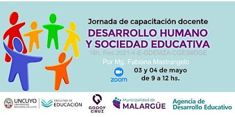 """Curso de capacitación docente  """"Desarrollo humano y sociedad educativa"""" entradas"""