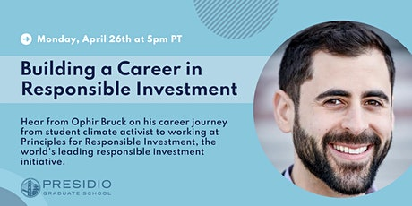 Building a Career in Responsible Investment tickets