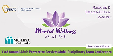 33rd Annual Adult Protective Services Multi Disciplinary Team Conference tickets