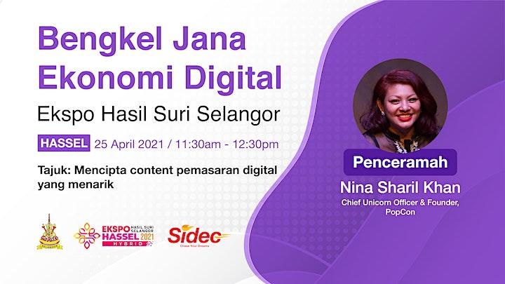 Ekspo Hasil Suri Selangor (HaSSeL) 2021 - Bengkel Jana Ekonomi Digital image