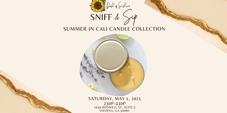 Sniff & Sip: Summer in Cali Candle Collection tickets
