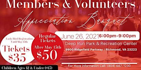Member's & Volunteer's Appreciation Banquet tickets