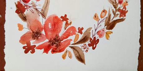 Watercolour florals tickets