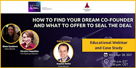 How to find your dream co-founder and what to offer to seal the deal tickets