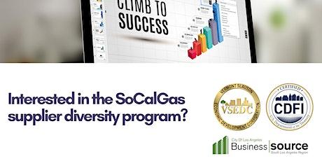 Southern Cal. Gas Supplier Diversity Program tickets