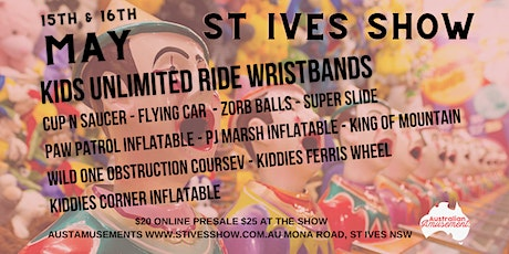 St Ives Show - Unlimited Ride Wristbands! tickets