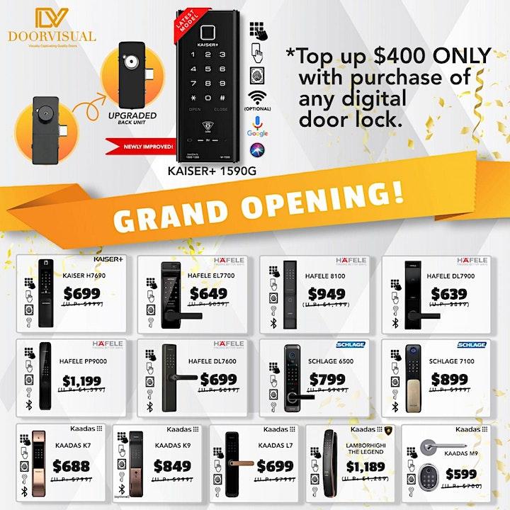 DoorVisual Showroom Grand Opening Promotion Sale 2021 Singapore image