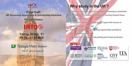 UK University Application & Scholarship Interview tickets