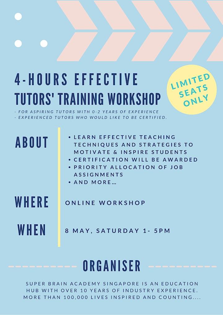 4 hrs Effective Tutors' Training Workshop image