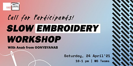 Slow Embroidery Workshop tickets