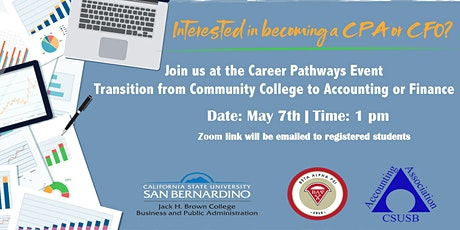 Accounting and Finance Career Pathways Event tickets