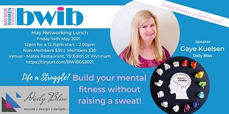 BWIB Networking Event - Build your mental fitness without raising a sweat! tickets