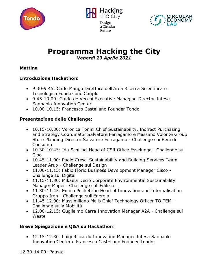 Immagine Hacking the City I Design a Circular Future