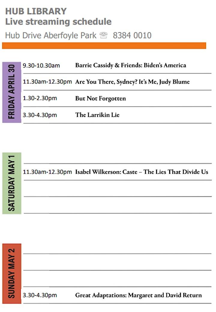 Sydney Writers Festival Live Stream - Hub Library image