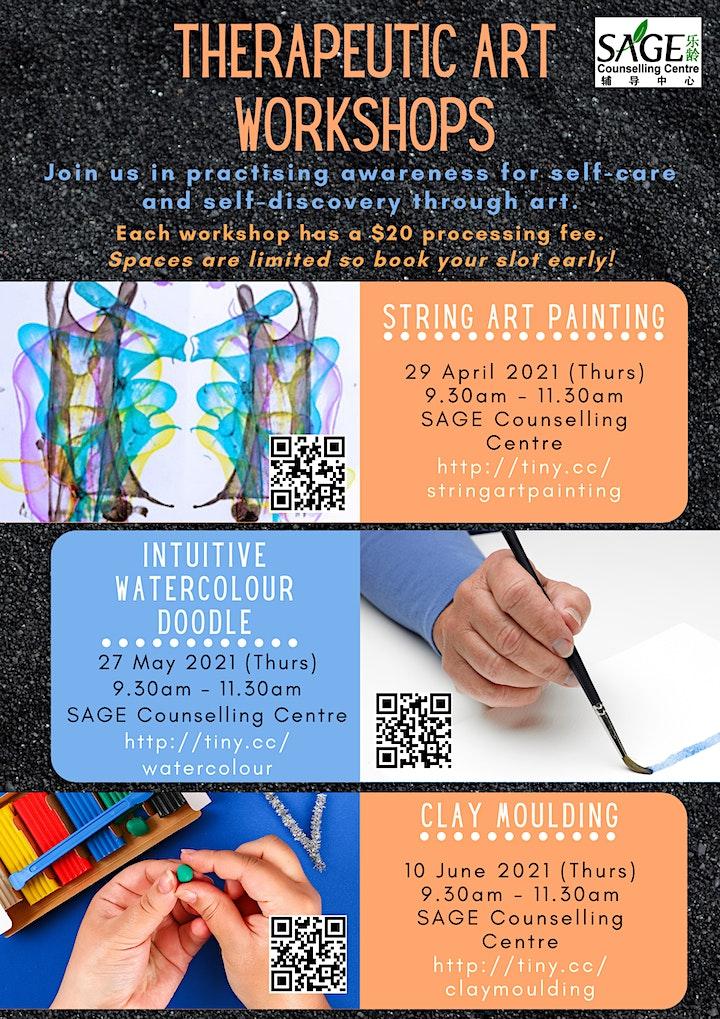 [Therapeutic Art Workshop] Intuitive Watercolour Doodle image