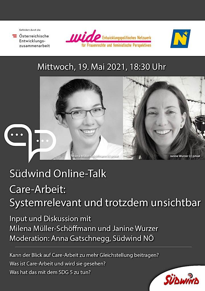 Südwind Online-Talk: Care-Arbeit: Systemrelevant und trotzdem unsichtbar.: Bild