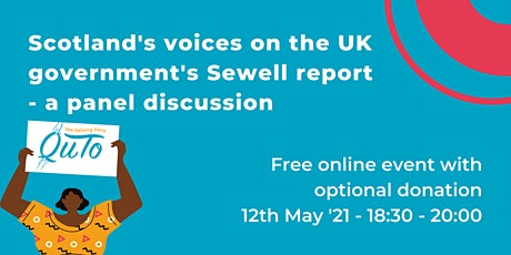 Scotland's voices on the UK government's Sewell report - a panel discussion tickets