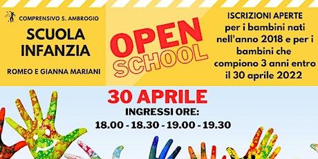 OPEN SCHOOL SCUOLA INFANZIA ROMEO E GIANNA MARIANI SEREGNO biglietti