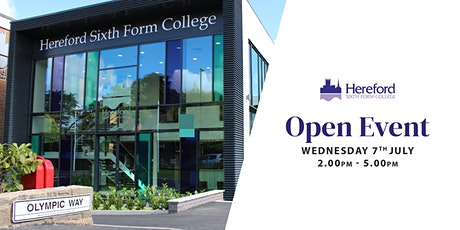 Hereford Sixth Form College Open Event tickets