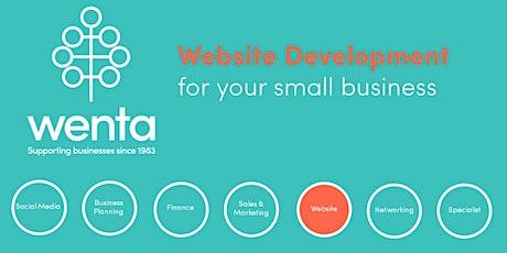Website development for your small business: Webinar tickets