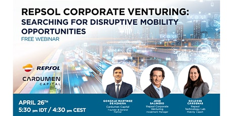 Repsol Corporate Venturing: searching for disruptive mobility opportunities tickets