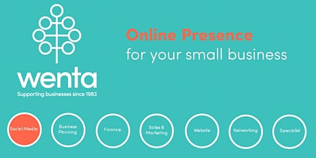Online presence for growing your small business: Webinar tickets
