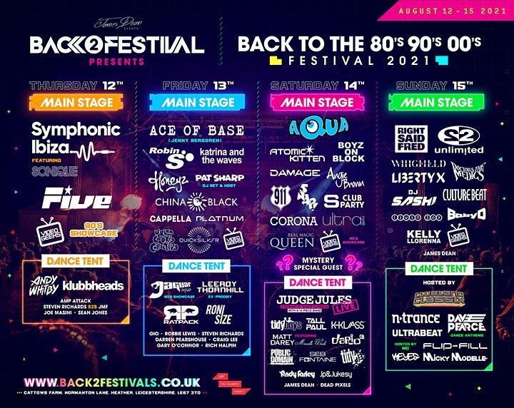 Back to the 80's, 90's & 00's Festival 2021 image