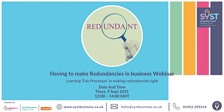 Having to make Redundancies in business Webinar tickets