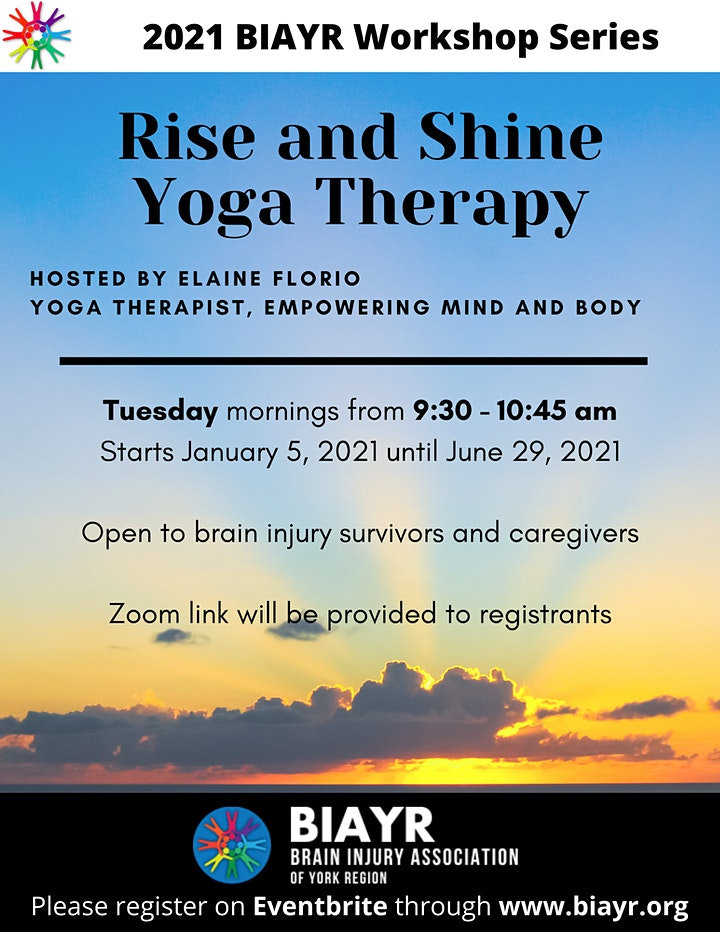 Yoga Therapy for Brain Injury - 2021 BIAYR Programming Series image