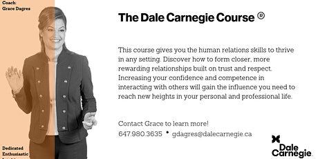 Dale Carnegie Course® - Live Online Kickoff Meeting tickets