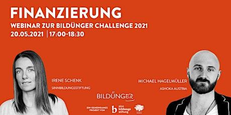 Bildünger Challenge 2021: Finanzierung Tickets