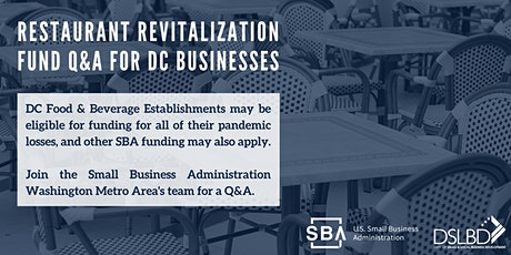 SBA Restaurant Revitalization & Additional Programs Q&A tickets