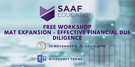 Free Workshop: MAT Expansion – Effective Financial Due Diligence tickets