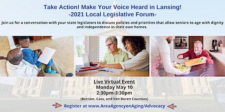 Tri-County Virtual Legislative Forum - (Berrien, Cass, Van Buren counties) tickets
