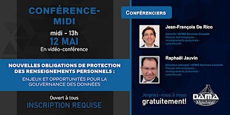 Lunch conférence DAMA Montréal billets