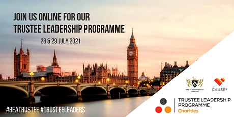 Trustee Leadership Programme - Virtual tickets