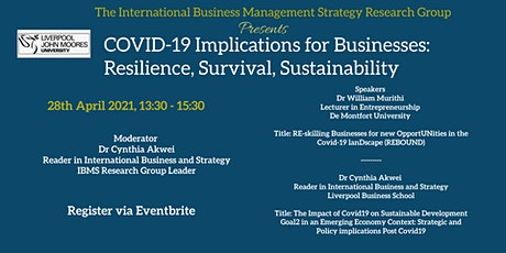 COVID-19 Implications for Businesses: Resilience, Survival, Sustainability tickets