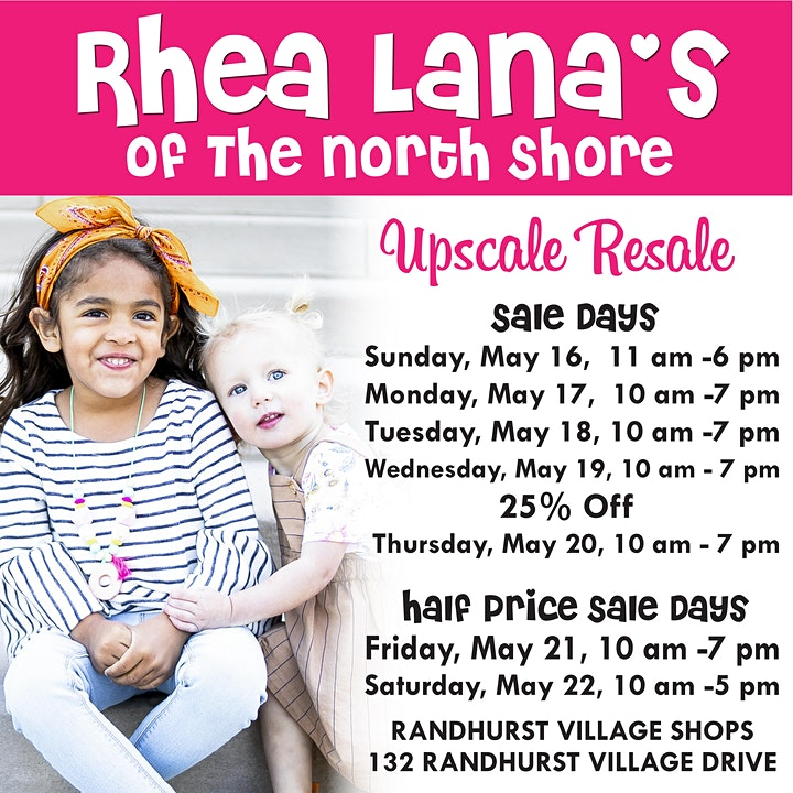 Rhea Lana's of The North Shore Spring & Summer Children's Consignment Sale image