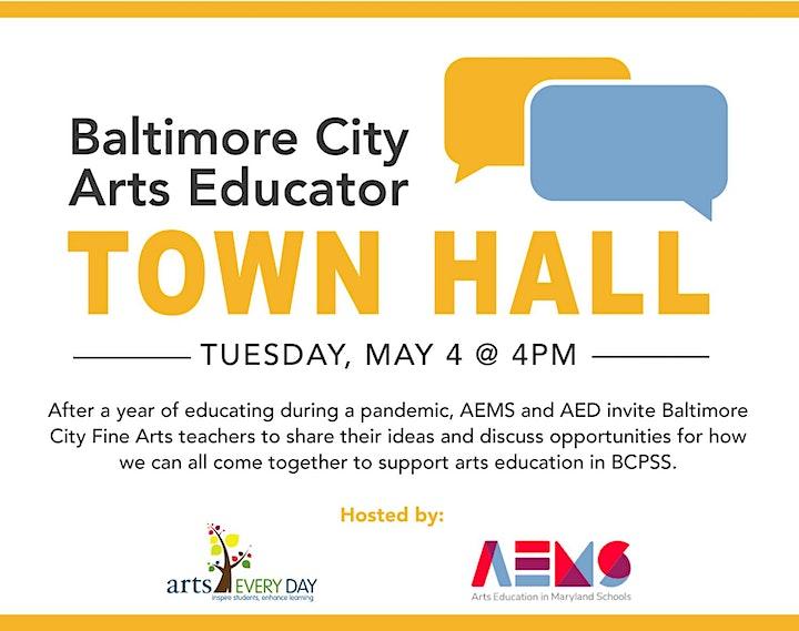 Baltimore City Arts Educators Town Hall image