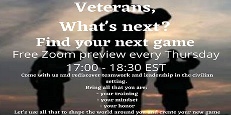 Veterans, what's your next step? tickets