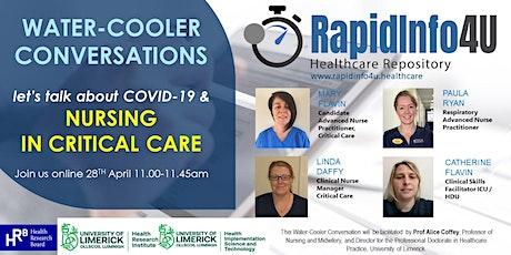 RapidInfo4U Water-Cooler Conversations: Let's talk about COVID-19 & Nursing tickets