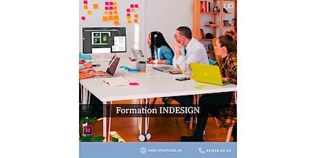 Formation INDESIGN gratuite (chèques TIC Actiris) billets