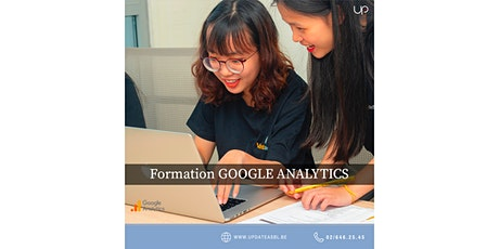 Formation GOOGLE ANALYTICS gratuite* (chèques TIC Actiris) billets