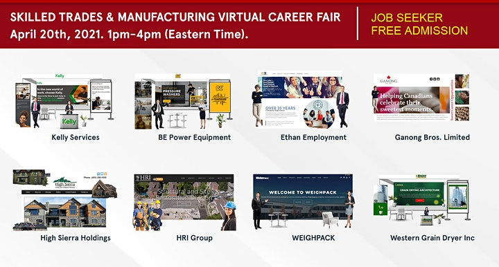 Skilled Trades & Manufacturing Virtual Career Fair - August 26th image